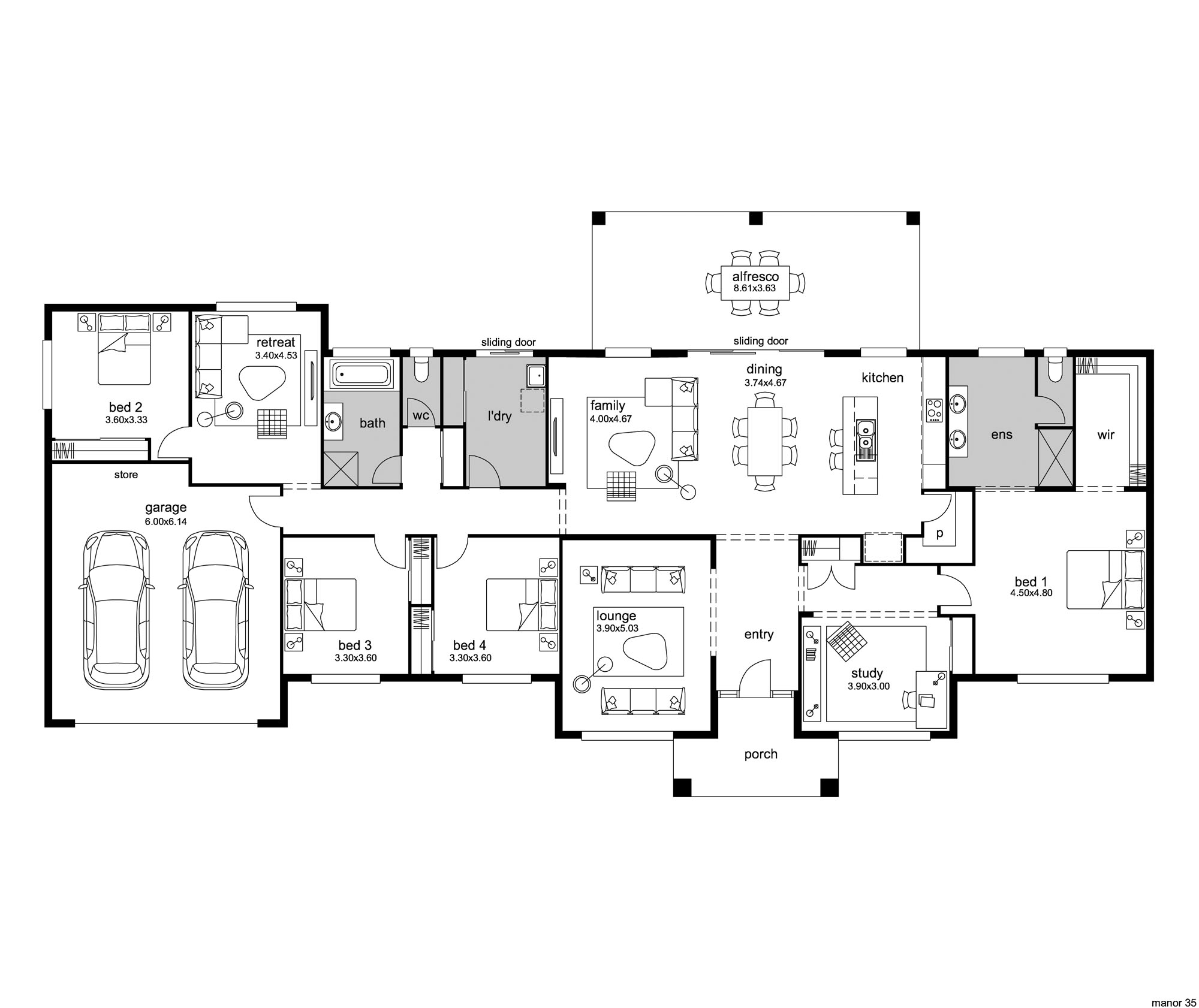 hampton style house plans - manor