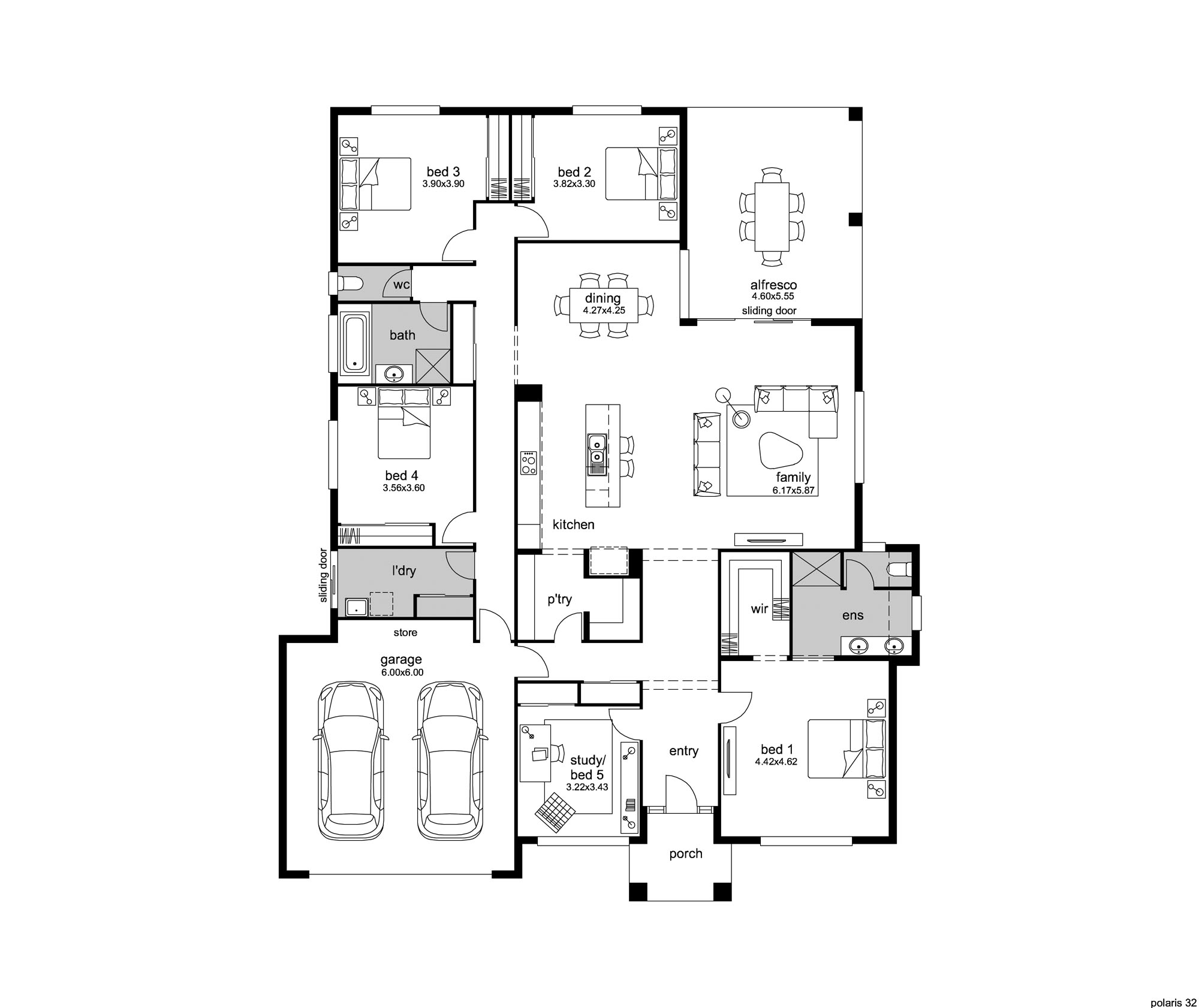 hampton-style house plan - polaris