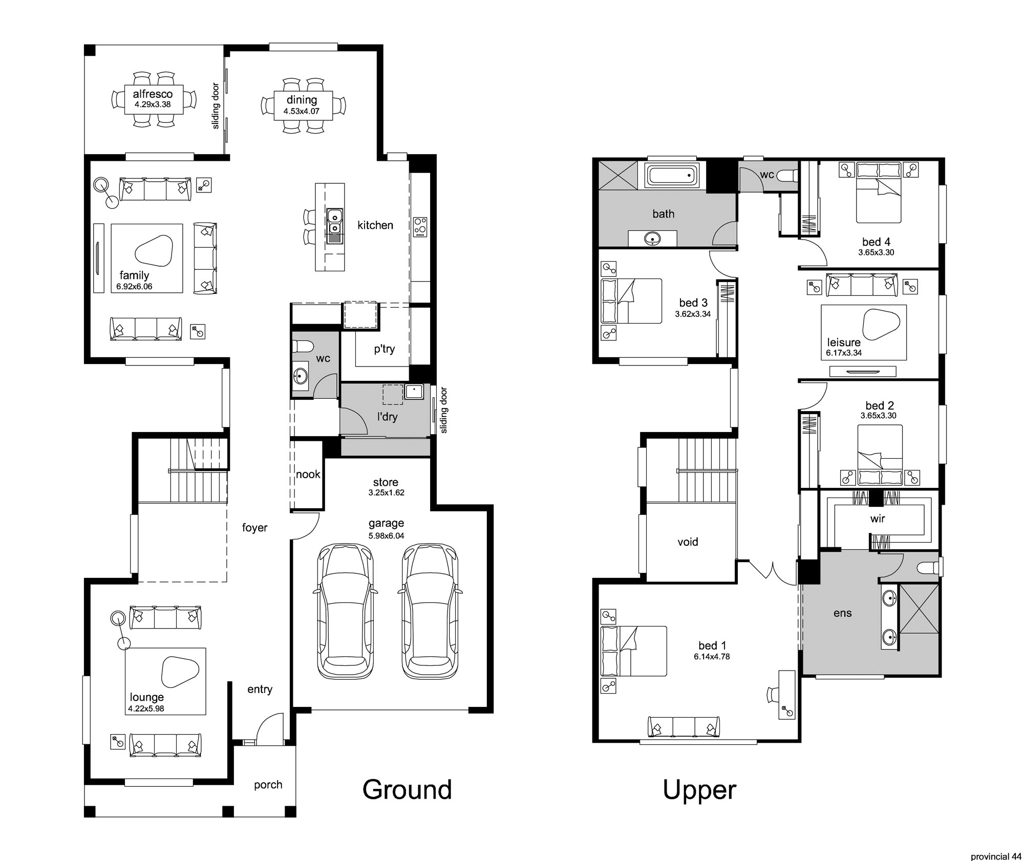 hampton style house plans - provincial floor plan