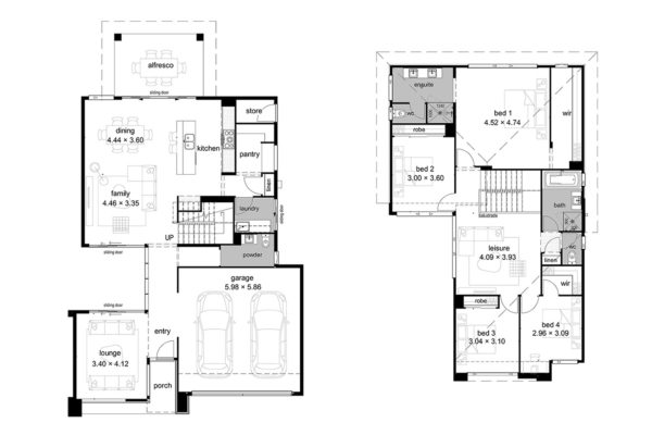 McCarthy Homes Pinnacle Display Floor plans. Located at Newport, QLD.